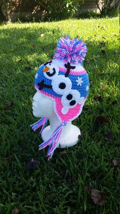 Inspired Frozen Olaf Winter hat Made to Order by GrannysCraftiness