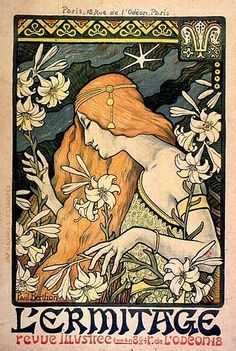 By Art Nouveau artist Paul Berthon I love this poster - it's probably one of the first Art Nouveau poster that I saw when I was a teen