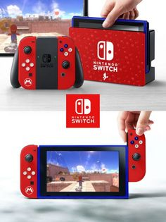 These 16 Custom Nintendo Switch Skins Are Gorgeous and Need to Be a Thing - Geek Universe - Geek Nintendo Switch Game Console, Buy Nintendo Switch, Nintendo Switch System, Video Game Console, Cute Games, Epic Games, Nintendo Switch Accessories, Custom Consoles, Teen Boys Room Decor