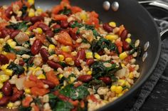 Meatless Casserole Ideas | This photo was taken just before I sprinkled on the cheese and put it ...