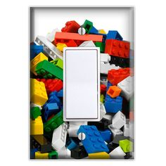 Lego Blocks Decorative Rocker Cover by Switch Plate Creations Switch Plate Covers, Switch Plates, Light Switch Covers, Lego Bedroom, Lego Blocks, Cover Style, Outlet Covers, Craft Items, Cleaning Wipes