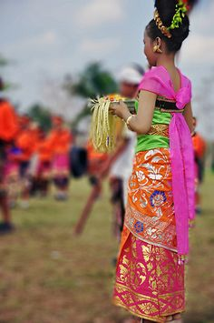 A colorful Balinese