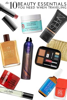 The 10 Beauty Essentials you NEED when traveling | theglitterguide.com