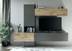 4 veces he visto estas preciosas muebles minimalistas. Tv Cabinet Design, Tv Wall Design, Tv Unit Design, Innovation Design, Living Room Designs, Living Room Decor, Tv Wanddekor, Tv Wall Cabinets, Tv Entertainment Units