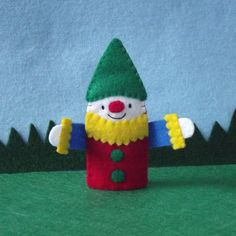 Happy Clown Finger Puppet by cherylasmith on Etsy, $5.00