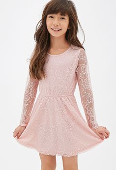 Floral Lace A-Line Dress (Kids)   FOREVER21 girls - 2000136070