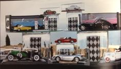 Car Hop Themed Political Party by J Divine Events (toy car display)
