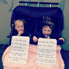 Funny pictures about Mom Had Enough With Questions About Her Twins. Oh, and cool pics about Mom Had Enough With Questions About Her Twins. Also, Mom Had Enough With Questions About Her Twins photos. Cute Memes, Funny Memes, Twin Humor, Mom Humor, Twin Strollers, Question Sign, How To Have Twins, Mom Of Twins, Baby Twins