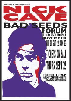 Image result for Bad seeds tour posters