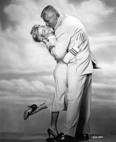 THE LADY TAKES A FLYER (1957) Lana Turner & Jeff Chandler - Universal-International - Publicity Still.