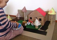 Cardboard play house/land