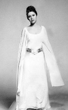 Carrie Fisher (Princess Leia).   LOVE THIS DRESS!!!!!!