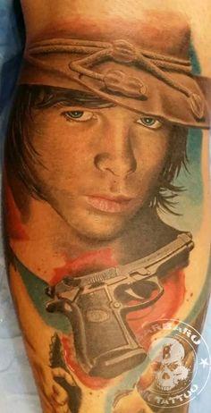 #tattoo #tattooist #tattoolife #tattooartist #tattoofreakz #tattoolifemag #tattooistartmag #tattooed_body_art #tattooistartmagazine #thebesttattooartists #thebestpaintattooartists #colortattoo #inkedmag #inkfreakz #crazytattoos #tattooalmeria #tattooed #terrortattoo #thewalkingdead #carlthewalkingdead #thewalkingdeadtattoo