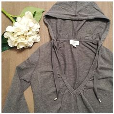 LOFT hoodie sweatshirt A perfect sweatshirt when you want to be comfy and casual but still look cute and put together! V-neck, pouch in front and drawstring hood. LOFT Tops Sweatshirts & Hoodies