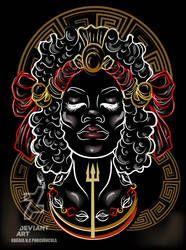 Lebara by Oradine (Brazil). Female exu, spirit of Umbanda, popular for love-related problems. Orisha, Warrior Spirit, Man And Dog, African Culture, Deviantart, Lightning, Fantasy Art, Witch, Creative