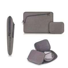 Coodio® Universal 13.3 inch Laptop Sleeve Bag Case Pouch + Accessory Bag for Apple Macbook Air 13, Macbook Pro Retina 13 (Can NOT Fit HP ENVY 4-1100sl and Lenovo Yoga) (Grey) - http://tulip-ego.com/laptop-and-notebook-computer-accessories/coodio-universal-13-3-inch-laptop-sleeve-bag-case-pouch-accessory-bag-for-apple-macbook-air-13-macbook-pro-retina-13-can-not-fit-hp-envy-4-1100sl-and-lenovo-yoga-grey/