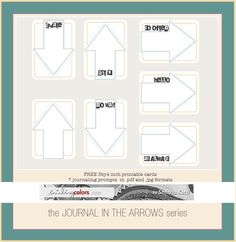 Journal in arrow cards | free printable journal cards, by Smitha. #ProjectLife #Scrapbooking