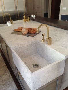 Stylish and elegant! Silestone Helix in the Suede finish in the #kipsbaymansion2014
