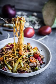 Indonesian Mie Goreng (Indonesian stir-fried noodles)