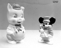 EIEIO and Mickey Mouse piggy banks Piggy Banks, Old Dolls, Mickey Mouse, Toys, Activity Toys, Michey Mouse, Toy, Money Bank