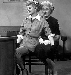 I LOVE LUCY Lucy Ricardo (Lucille Ball) Ethel Mertz (Vivian Vance) apply for a job