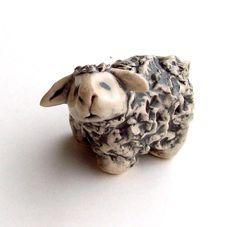 Sheep Miniature by FlowerandPearlStudio