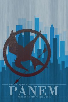 Hunger Games - Panem Tourism Stretched Canvas
