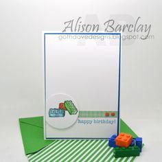 Gothdove Designs - Alison Barclay - Stampin' Up! Australia - Stampin' Up! Lego Card #stampinup #lego #boyswillbeboys #stampinupaustralia #inspirecreateshare2015 #incolors #birthday #card #gothdovedesigns