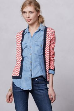 """- By Margaret O'Leary  - Front pockets - Button front  - Cotton  - Machine wash  - 23""""L - Imported"""