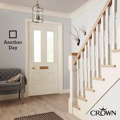 Impress from the moment you open the door with our range of Hall & Stairs colours! Home Decor Trends, Luxury Paints, House, Crown Paints, Stairs, Trending Decor, Home, House Painting, Stairs Colours
