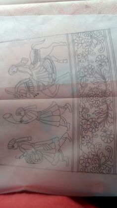 Manirul Hand Embroidery Design Patterns, Embroidery Works, Embroidery Monogram, Hand Embroidery Stitches, Machine Embroidery Designs, Hand Kunst, Hot Girls, Fabric Paint Designs, Hand Art