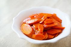 Glazed carrots, sliced carrots, sauted in butter and sugar, then cooked in stock until sauce is reduced to a glaze.