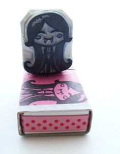 vampirella hand carved stamp