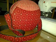 Handmade handbag red shweshwe