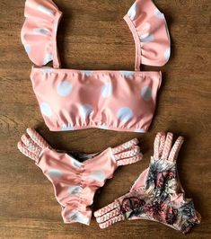 Beachwear Fashion, Bikini Fashion, Ropa Interior Babydoll, A Bikini A Day, Jolie Lingerie, Mix And Match Bikini, Bikini Outfits, Cute Bathing Suits, Cute Swimsuits