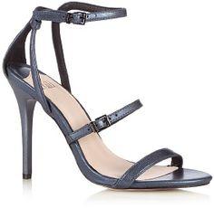 Faith Navy ankle strap high sandals - . -