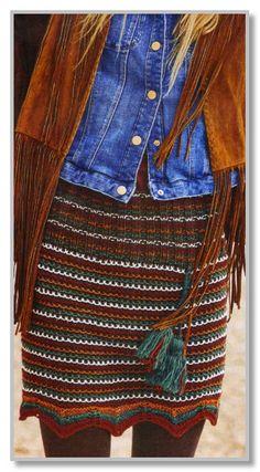 Вязание спицами. Короткая юбка в многоцветную полоску. Размеры: 36/38 (40/42) 44/46