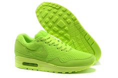 842b0a4edb5 Authentic Mens All Fluorescence Green 554718-888 Nike Air Max 1 EM New Nike  Air