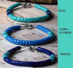 Chevron Tribal Bracelets in Blues  African Snake by MySelvagedLife