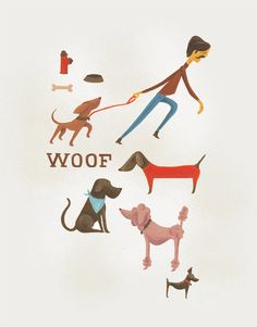 Woof by YoursRoxanne on Etsy, $30.00