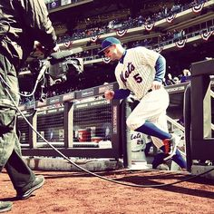 David Wright takes the field. #Mets #openingday
