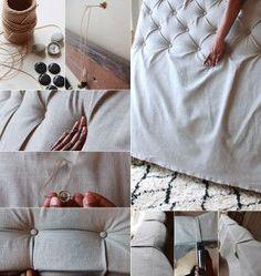 schlafzimmer-ideen-für-bett-kopfteil-selber-machen-aus-holzrahmen ... - Schlafzimmer Ideen Zum Selber Machen