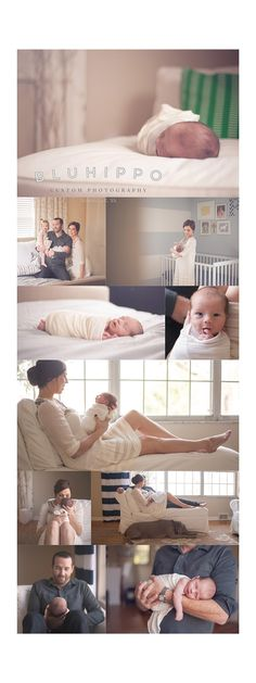 Newborn Photography - Love this simple shoot of family & home