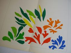 Original Lithograph Print After Henri Matisse Acanthes 1953 Verve Vol. IX Nos 35 & 36 1958 Mourlot Freres Paper Cut Outs Gouaches Découpés.