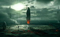 artwork, Fantasy Art, Concept Art, Planet, Ruin, Space, Aliens HD Wallpaper Desktop Background