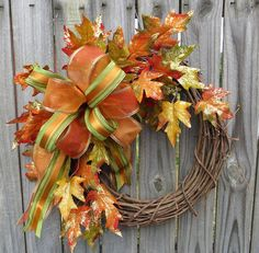 Fall Wreath  Fall / Autumn Wreath  Gilded Fall by HornsHandmade, $51.00
