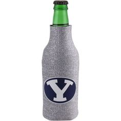 Brigham Young Cougars Zippered 12oz. Glitter Bottle Cooler - Silver