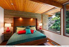 Colorful Mid Century Modern Bedroom
