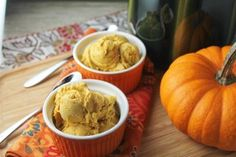 Extra Creamy Pumpkin Ice Cream - free of all top 8 allergens and perfect for an unexpected topping to your pumpkin or apple pie!