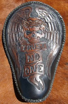 Hidecore Hand Tooled Leather Seat